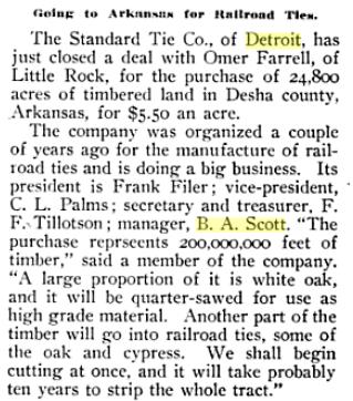Standard Tie land deal in Arkansas